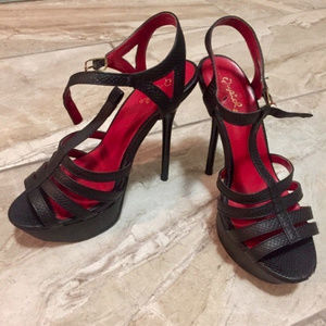 Strappy Leather Stilettos